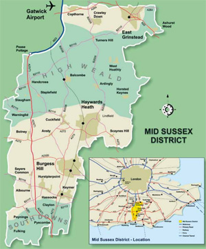 Mid Sussex Map