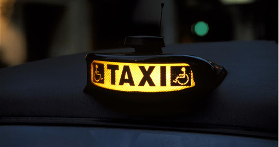 Taxi sign - copyright Britain on View