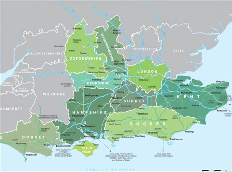 Map Of East Uk.Map Of South East England Visit South East England