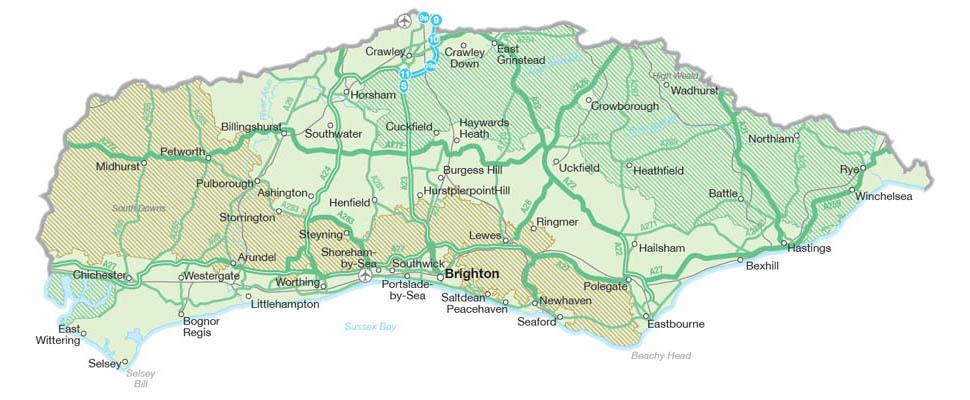 Map Of South East England Counties.Map Of Sussex Visit South East England