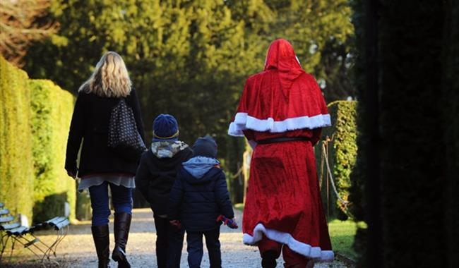 Father Christmas At Uppark House Garden