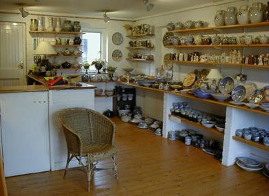Pottery showroom