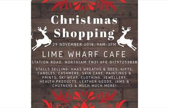 Christmas shopping at Lime Wharf Cafe