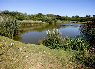 Brookfield Park, Rustington with lake