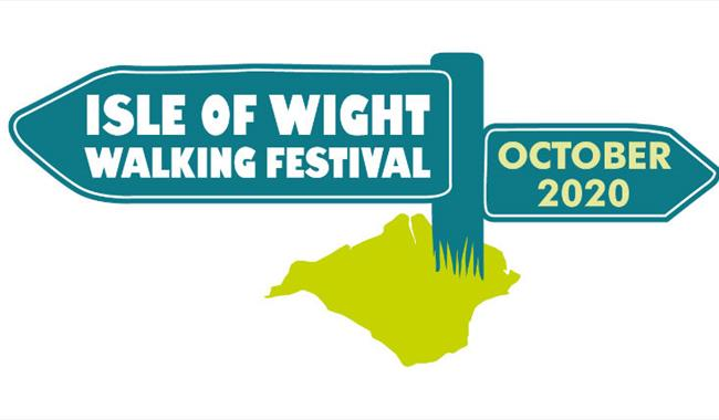 Isle of Wight, Walking Festival, Image showing sign posts with Event and dates