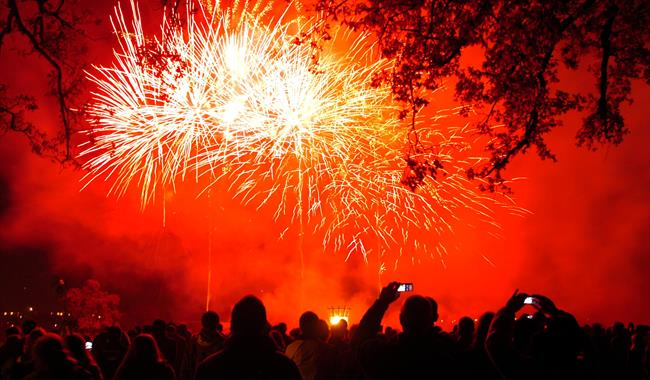 Guildford Lions Charity Torchlight Procession and Fireworks Display