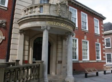 Entrance to Worthing Museum and Art Gallery