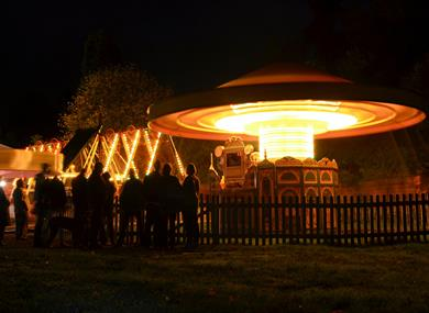 Fairground at Night Halloween at Hollycombe
