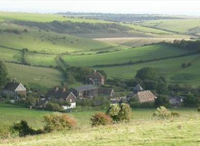 Saddlescombe Farm and Newtimber Hill