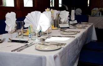 SS Shieldhall dining room
