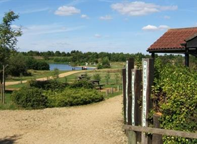 60 acres of lakes, meadow & young woodland.