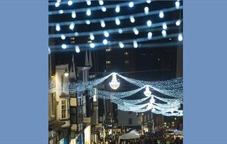 Christmas lights In Guildford High Street